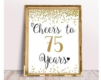 75th birthday Etsy
