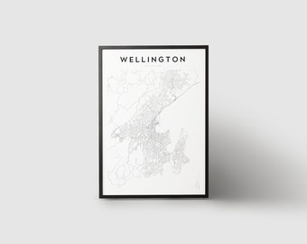Wellington Map Print