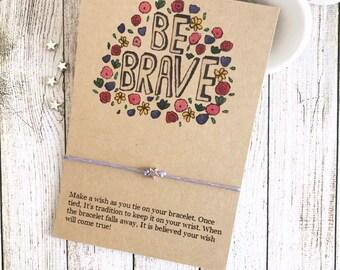 Friendship Gift, Friendship Favors, Friendship Party, Girls Friendship Gift, Be Brave Bracelet, Wish Bracelet