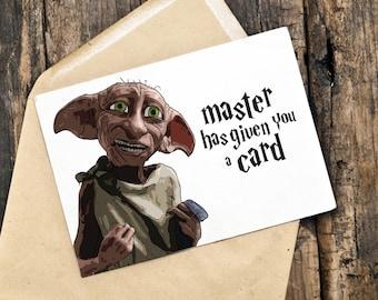 Harry Potter Card   Dobby Card   Birthday Card   Any Occasion Card