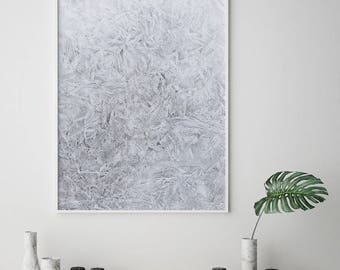Snow print, Ice Print, Scandinavian, Nordic Print, Frost Print, Icy Frost, Snow Wall Art, Minimalist Print, Texture Print, Abstract print
