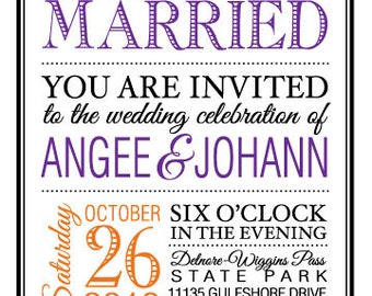 """Eat, Drink & Be Married Invitation Set - 5"""" x 7"""""""