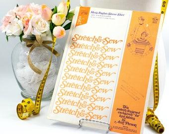 Mens Raglan Shirt - Pattern 1710 - Vintage Sewing Pattern -  Vintage Pattern - Vintage Stretch & Sew Pattern - 1970s Pattern - Ann Person