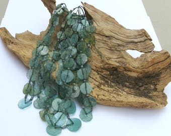 Glass - 'Ancient Roman Glass' Beads - 12-20mm Discs