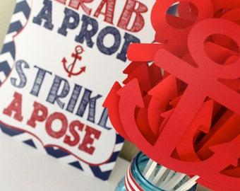 Nautical Grab a Prop & Strike a Pose - Printable