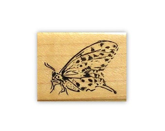 BUTTERFLY mounted rubber stamp, spring, summer, bug, Sweet Grass Stamps No.9