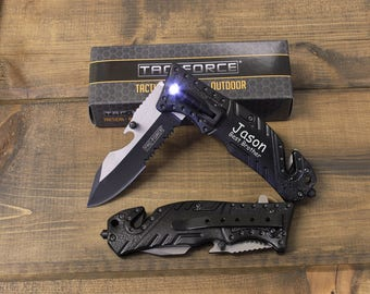 8 Tactical Knives, Personalized Knives, Groomsmen knives, Will you be my groomsman, Personalized Pocket Knife, Mens Personalized, Best Man