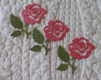 Rose Die-Cut -- Set of 3