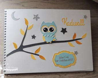 ON order-guestbook essential OWL blue yellow and white