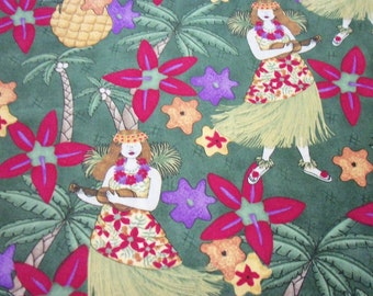 Hula Girls Fabric Hawaiian Fun By The Yard