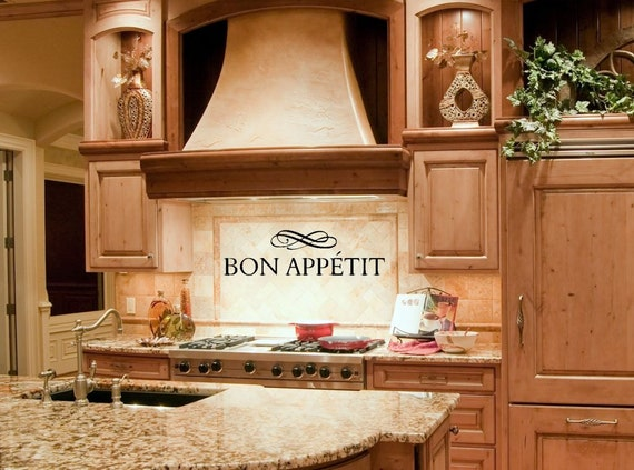 Kitchen Decor Kitchen Wall Decal Kitchen Wall Decor Bon