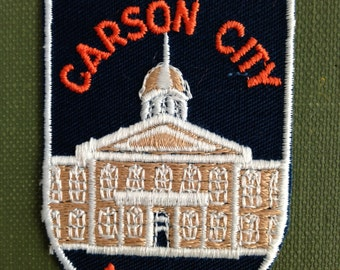 Carson City Nevada Vintage Travel Patch by Voyager