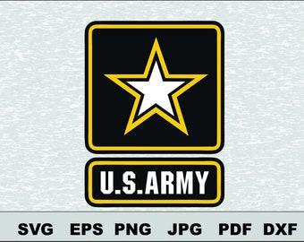 US Army logo Svg, DFX  Eps, , Vector, Cut File Silhouette Studio Cameo Cricut Design Template Stencil Vinyl Decal