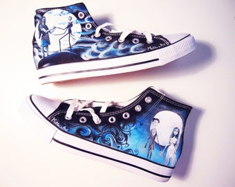 Tim Burton hand painted shoes series / Nightmare before christmas -  Corpse bride shoes