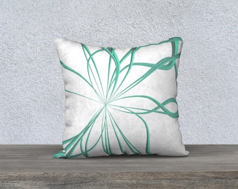 Pillow Cases in Wild Teal Lines design in velveteen or canvas