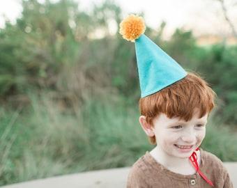 Felt Party Hat Pom Birthday Cone Cake Smash