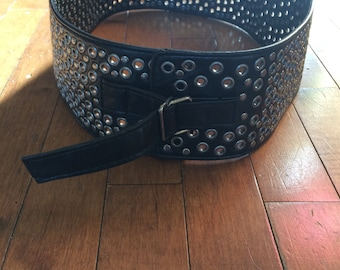 Vintage wide belt in vinyl, year 80