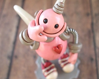 Robot Cupid Mini Robot Sculpture TECHIE GEEK LOVE Gift Valentine's Day Geeky