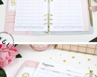 PRINTED A5 Income and Expense Tracker, Planner Inserts, Budget Planner, Monthly Expenses tracker, Finance Planner, A5 planner inserts