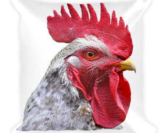 Rooster Hen Chicken Poultry Square Pillow Throw Pillow Cushion Decor
