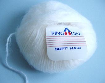 "Laine Pingouin ""soft'hair"" - 1 pelotte - Naturel"