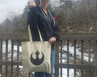 Star Wars Bag ~ Rebel Alliance Shopping Bag ~ One of a Kind Bag ~ Star Wars Day ~ May the Fourth ~ Lightweight Tote Bag