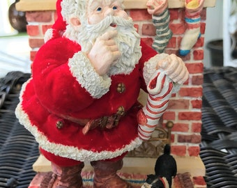 """1991 Enesco Limited Edition """"Jolly Old St. Nicholas Musical"""