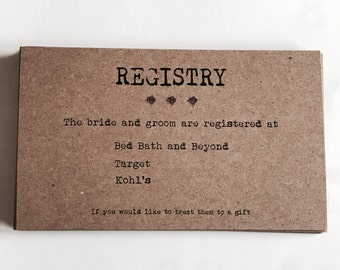 Wedding Registry Template Wedding Registry Card Enclosure