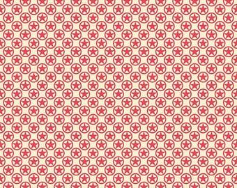 Sasparilla Red Stars by Riley Blake - 1 yard