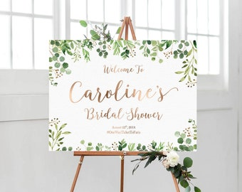 Bridal Shower sign, Greenery Bridal Shower, Greenery decoration, PRINTABLE Welcome sign, Greenery Bridal shower welcome sign, Shower sign