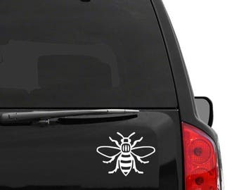 Vinyl Manchester Bee Decal Sticker for Cars Laptops - Worker Bee Northern Quarter Hacienda Mancunian Car Bumper Sticker Holographic Window