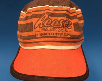 Vintage reeses peanut butter cups milk chocolate painter cap size small medium 1980s