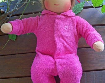 """16"""" Waldorf Baby Doll Pattern Limbs Sewn Into Body dolls natural: Instant Download"""