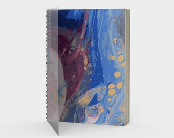 Oceanscape Marbled Spiral Notebook