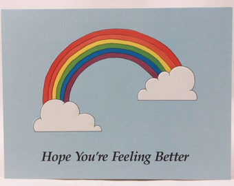 """Artfaire """"Hope you're Feeling Better"""" Single Card with Envelope. Rainbow"""