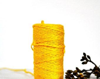 Chunky Bright Yellow Twine {10.0m}    Jute Twine   Chunky Twine   Yellow Jute Twine   Rustic Yellow Twine   Neon Twine