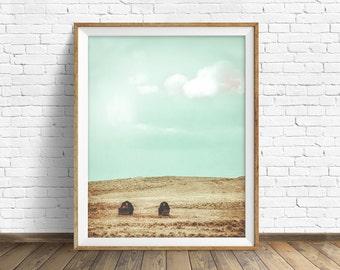 """landscape, landscape print, instant download art, printable art, photography, color, instant download, farmhouse decor - """"Two Little Barns"""""""