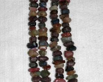 Sapphire, Umba Sapphire, Multicolor Nugget, Faceted Nugget, Gemstone, Natural Stone, Semi Precious, Gemstone Nugget, Half Strand, 11-18mm