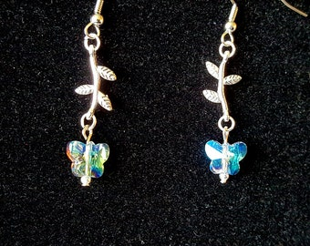Prism Butterfly Flower Dangles