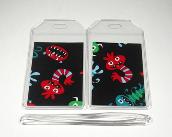 Luggage Tags Set of 2 Little Monsters