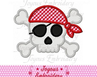 Instant Download Pirate Skull Applique Embroidery Design NO:1576