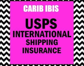 USPS International Shipping Insurance Add-on: Orders totaling up to 50 US Dollars