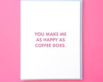 Coffee Love Card. Coffee Anniversary Card Her. Best Friend Coffee Card. Friend Card. Coffee Card. Anniversary Card for Him. Funny Love Card