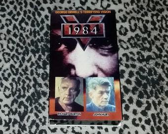 1984 [VHS] George Orwell John Hurt Richard Burton Dystopian Classic Cinema Rare VHS Tape Vintage Goodtimes VHS