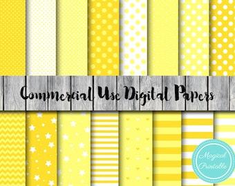 Orange, Yellow Digital Paper, Sunshine Download Digital Paper, Commercial Use, Scrapbook Digital Papers, Digital Background, DP18