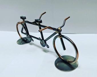 Tandem bicycle sculpture