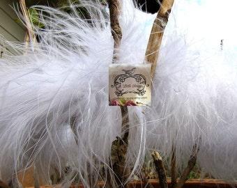 White Marabou Boa Feathers