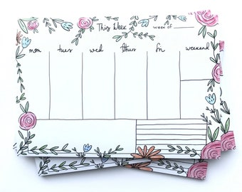 Floral Notepad // Stationery