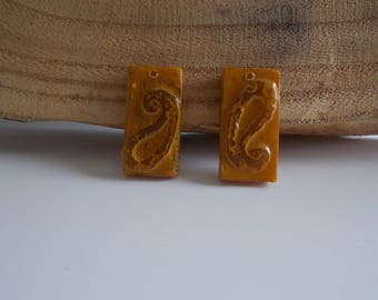 1 set of 2 small charms for creating cold porcelain