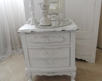 Adorable Shabby Chic Hand Painted/Distressed Vintage Dresser/Night Stand